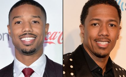 Actor Michael B. Jordan, left