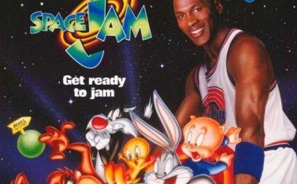 Michael Jordan with the Looney