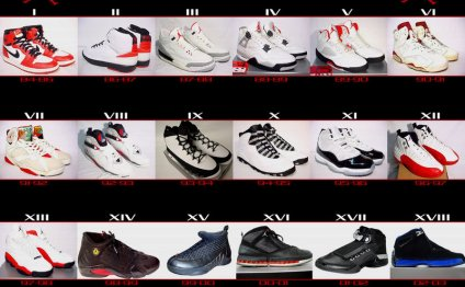 air jordan by number