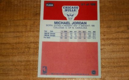 Fleer Michael Jordan rookie card