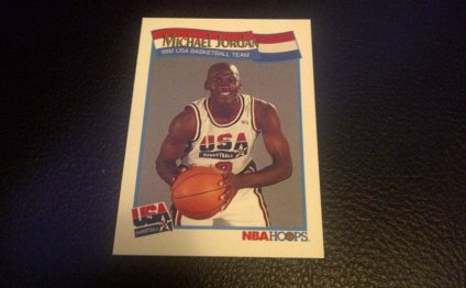 NBA Hoops Michael Jordan card