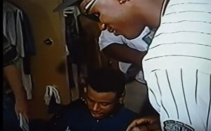 Griffey, signing a bat for jordan.