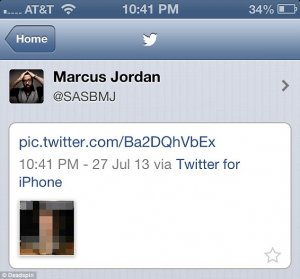 Jordan has since erased his Twitter account. That is a screenshot of this erased tweet taken on an iPhone