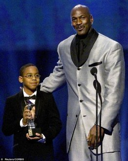 Marcus Jordan is pictured in 2000 together with his dad, Michael Jordan, through the 8th yearly ESPY honors show