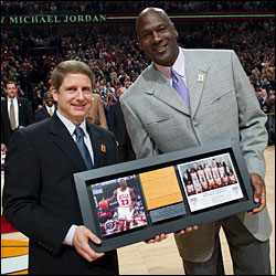 Michael Jordan and Michael Reinsdorf