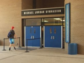 Michael Jordan Gymnasium at Laney high-school.