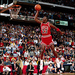jordan in 1988 Slam Dunk Competition
