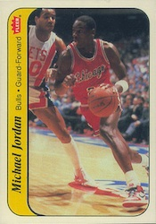 jordan Inserts - 1986-87 Fleer Stickers Michael Jordan #8