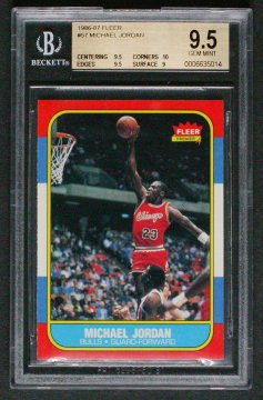 Michael Jordan novice card BGS 9.5