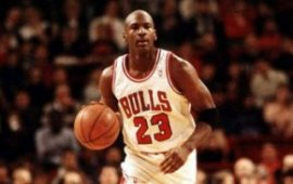 Michael playing for Chicago Bulls