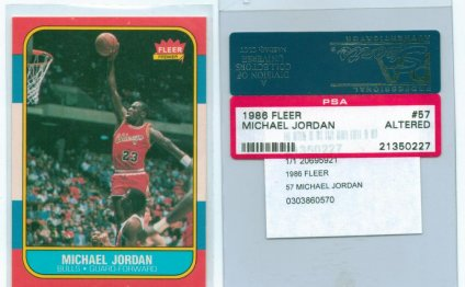 Michael Jordan rookie basketball card value