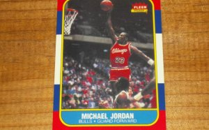 1986 Fleer Michael Jordan rookie cards value