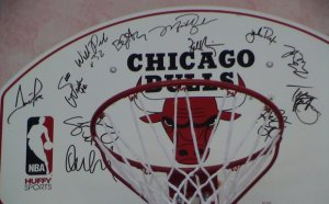 Michael Jordan signed basketball