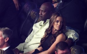Michael Jordan with wife