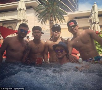 The Brazilian is enjoying some post-Copa America downtime with friends in the Nevada desert
