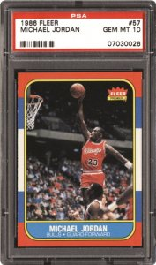 the essential coveted Jordan card is their 1986-87 Fleer rookie (#57). Exhibiting a fantastic action shot, this solitary helped usher-in a unique era of hoops cards.