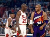 Charles Barkley and Michael Jordan