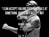 Michael Jordan I Can accept failure