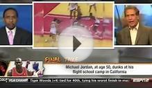 First Take - Michael Jordan dunks at 50 years old