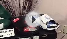 Jordan 6 Hydro slides infrared and sport blue and T-Mac