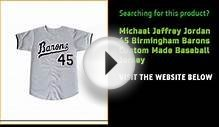 Michael Jeffrey Jordan 45 Birmingham Barons Custom Made
