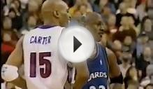 Michael Jordan (Age 38) shuts down Vince Carter - 0 pts in