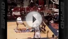 MICHAEL JORDAN- BIG Dunk On Patrick Ewing