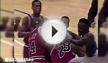 Michael Jordan Brawls Reggie Miller - NBA Fights