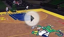 Michael Jordan does the foul line dunk in NBA 2K16