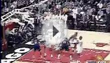 Michael Jordan fake and jumper over Allan Houston vs New