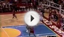 Michael Jordan Famous Eyes Closed Free Throw to Mutombo In