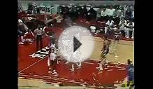 Michael Jordan First Ever Lay Up in NBA - Amazing Hangtime