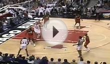 Michael Jordan Great Dunk on Dikembe Mutombo