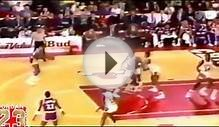 Michael Jordan Passes Magic Johnson and Dunks!