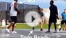 Michael Jordan played pick-up basketball with Tom Brady
