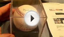 Muhammad Ali and Michael Jordan signed Baseball certified by