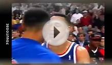 NBA Fights Michael JORDAN vs John STARKS