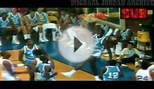 Superstar Michael Jordan Dunks with North Carolina Jersey